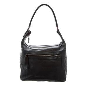GUCCI 💋Vintage Black Leather Shoulder Bag